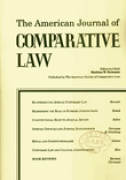 Cover of The American Journal of Comparative Law: Print Only