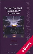 Cover of Button on Taxis: Licensing Law and Practice (eBook)