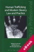 Cover of Human Trafficking and Modern Slavery: Law and Practice (eBook)