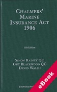 Cover of Chalmers' Marine Insurance Act 1906 (eBook)