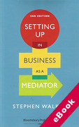 Cover of Setting Up in Business as a Mediator (eBook)