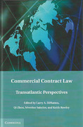 Cover of Commercial Contract Law: Transatlantic Perspectives