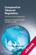 Cover of Comparative Takeover Regulation: Global and Asian Perspectives (eBook)