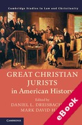Cover of Great Christian Jurists in American History (eBook)