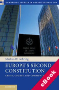 Cover of Europe's Second Constitution: Crisis, Courts and Community (eBook)