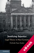 Cover of Justifying Injustice: Legal Theory in Nazi Germany (eBook)