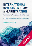 Cover of International Investment Law and Arbitration: Commentary, Awards and other Materials (eBook)