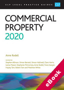 Cover of CLP Legal Practice Guides: Commercial Property 2020 (eBook)