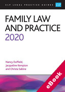 Cover of CLP Legal Practice Guides: Family Law and Practice 2020 (eBook)