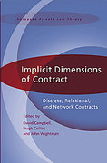 Cover of Implicit Dimensions of Contract: Discrete, Relational, and Network Contracts