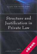 Cover of Structure and Justification in Private Law: Essays for Peter Birks (eBook)