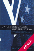 Cover of Unjust Enrichment and Public Law: A Comparative Study of England, France and the EU (eBook)