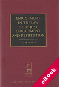 Cover of Enrichment in the Law of Unjust Enrichment and Restitution (eBook)