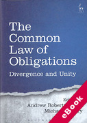 Cover of The Common Law of Obligations: Divergence and Unity (eBook)