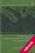 Cover of Marketing and Advertising Law in a Process of Harmonisation (eBook)