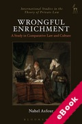 Cover of Wrongful Enrichment: A Study in Comparative Law and Culture (eBook)