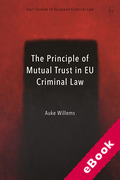 Cover of The Principle of Mutual Trust in EU Criminal Law (eBook)