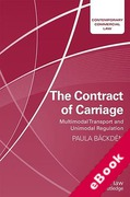 Cover of The Contract of Carriage: Multimodal Transport and Unimodal Regulation (eBook)