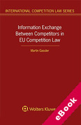 Cover of Information Exchange Between Competitors in EU Competition Law (eBook)