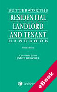 Cover of Butterworths Residential Landlord and Tenant Handbook (eBook)