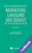 Cover of Butterworths Residential Landlord and Tenant Handbook (Book & eBook Pack)