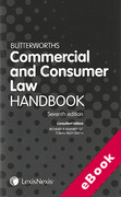 Cover of Butterworths Commercial and Consumer Law Handbook (eBook)