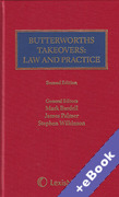 Cover of Butterworths Takeovers Law and Practice (Book & eBook Pack)