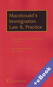 Cover of Macdonald's Immigration Law and Practice 9th ed: 1st Supplements (Book & eBook Pack)