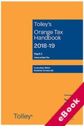 Cover of Tolley's Orange Tax Handbook 2018-19 (eBook)