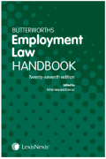 Cover of Butterworths Employment Law Handbook 2019
