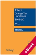 Cover of Tolley's Orange Tax Handbook 2019-20 (eBook)