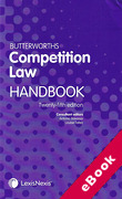 Cover of Butterworths Competition Law Handbook 2019 (eBook)