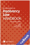 Cover of Butterworths Insolvency Law Handbook 2019 (Book & eBook Pack)