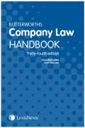 Cover of Butterworths Company Law Handbook 2020