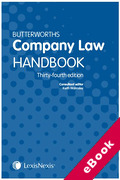 Cover of Butterworths Company Law Handbook 2020 (eBook)