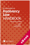 Cover of Butterworths Insolvency Law Handbook 2020 (eBook)