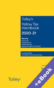 Cover of Tolley's Yellow Tax Handbook 2020-21 (Book & eBook Pack)