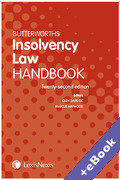 Cover of Butterworths Insolvency Law Handbook 2020 (Book & eBook Pack)