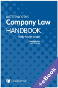 Cover of Butterworths Company Law Handbook 2020 (Book & eBook Pack)