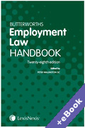 Cover of Butterworths Employment Law Handbook 2020 (Book & eBook Pack)