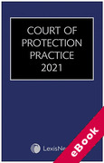 Cover of Court of Protection Practice 2021 (eBook)