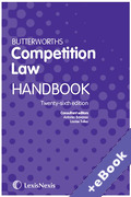 Cover of Butterworths Competition Law Handbook (Book & eBook Pack)