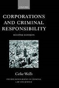 Cover of Corporations and Criminal Responsibility
