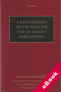 Cover of A Restatement of the English Law of Unjust Enrichment (eBook)