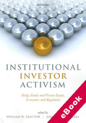 Cover of Institutional Investor Activism: Hedge Funds and Private Equity, Economics and Regulation (eBook)