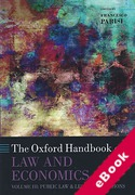 Cover of The Oxford Handbook of Law and Economics Volume 3: Public Law and Legal Institutions (eBook)