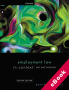 Cover of Employment Law in Context: Text and Materials (eBook)