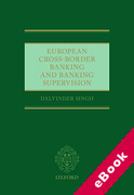 Cover of European Cross-Border Banking and Banking Supervision (eBook)