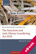 Cover of Blackstone's Guide to the Sanctions and Anti-Money Laundering Act 2018 (eBook)