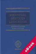 Cover of Financial Services Litigation (eBook)